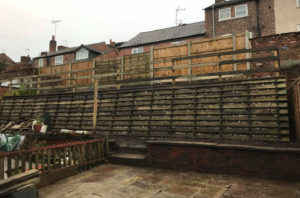 Permacrib Retaining Wall after, Macclesfield, Property Maintenance, Highbury, Highbury Homes. Social housing