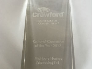 Regional Contractor of the Year, Crawford Contractor Connection, Highbury Homes, trophy