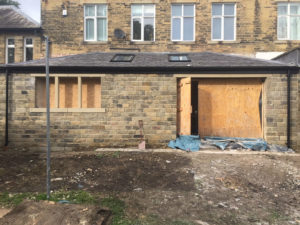 house extension during, residential, Highbury, Highbury Homes, house extension